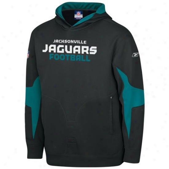 Jacksonville Jaguars Stuff: Reebok Jacksonvilpe Jaguars Youth Black Explorer Hoody Sweatshirt
