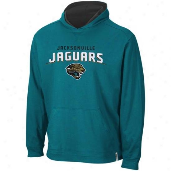 Jacksonville Jaguars Sweatshirts : Reebok Jacksonville Jaguars Teal-black Elite Fulky Reversible Sweatshirts T-shirt