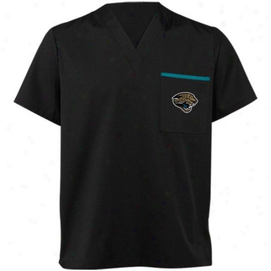 Jacksonville Jaguars T Shirt : Jacksonville Jaguars Black Scrub Top