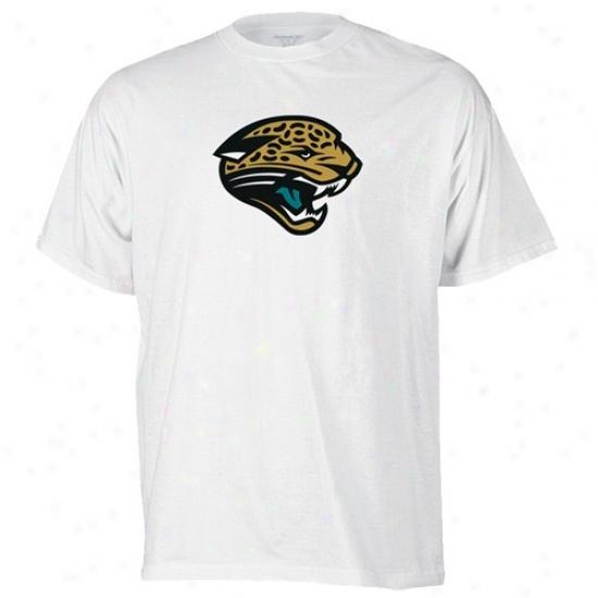 Jacksonville Jaguars T-shirt : Reebok Jacksonville Jaguars White Logo Premier T-shirt