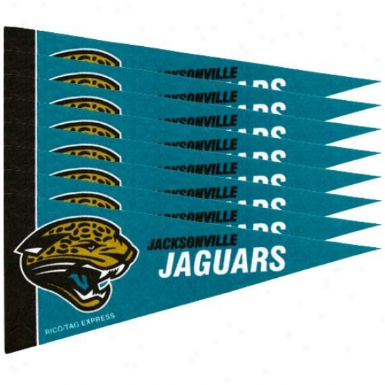 Jacksonville Jaguars Teal 8-pack Mini Pennant Set