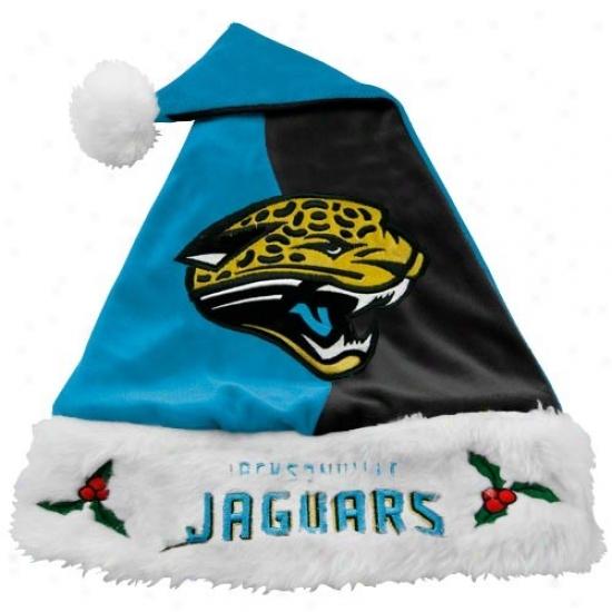 Jacksonville Jaguars Teal-black Mistletoe Santa Cardinal's office