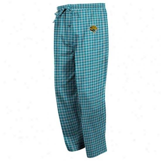 Jacksonvills Jaguars Teal Fly Pattern Pajama Pants