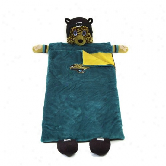 Jacksonville Jaguars Teal Mascot Sleeping Bag
