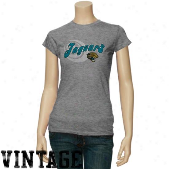 Jacksonville Jaguars Tees : Jacksonville Jaguars Ladies Ash Heather Triblend Tees
