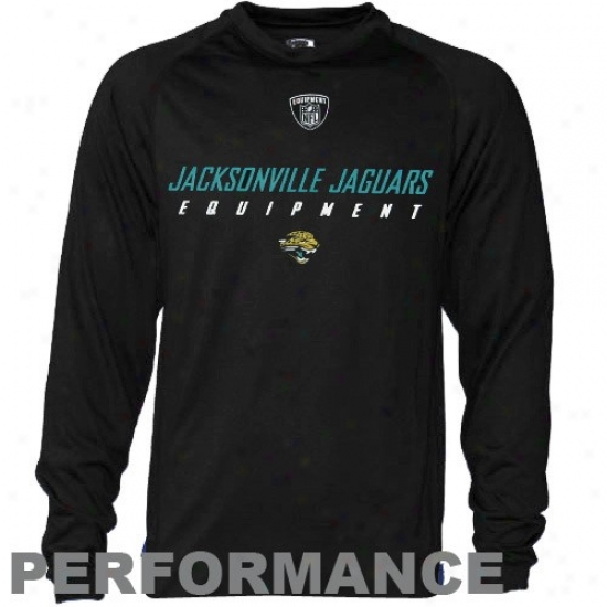 Jacksonville Jaguars Tees : Reebok Nfl Equipment Jacksonville Jaguars Mourning  Speedwick Performance Long Sleeve Tees