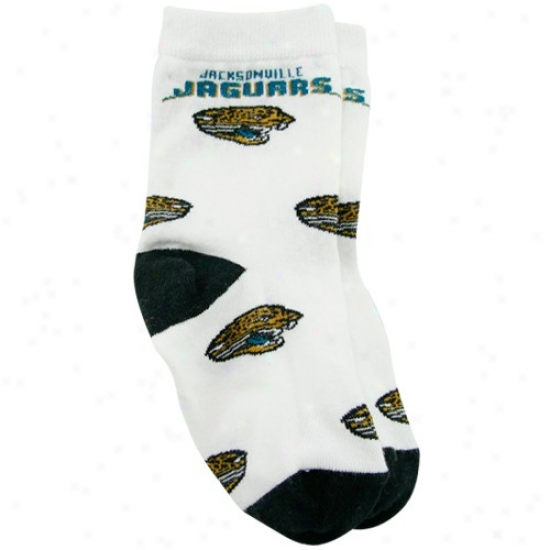 Jacksonville Jaguars Toddler White All Over Team Logo Bootje Socks