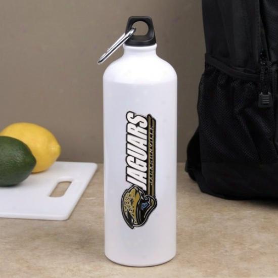 Jacksonville Jaguars White Aluminum Water Bottle