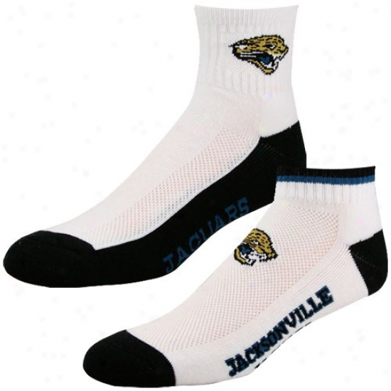 Jacksonville Jaguars White-black Two-pack Socks