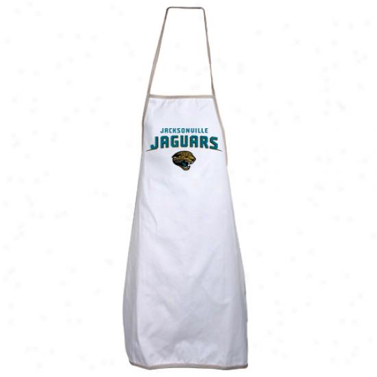 Jacksonville Jaguars White Sports Use a ~ upon Apron