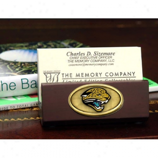 Jacksonville Jaguars Wooden Business Card Owner