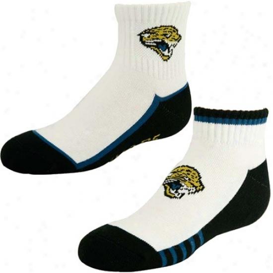 Jacksonville Jaguars Youth White-black Two-pack Socks