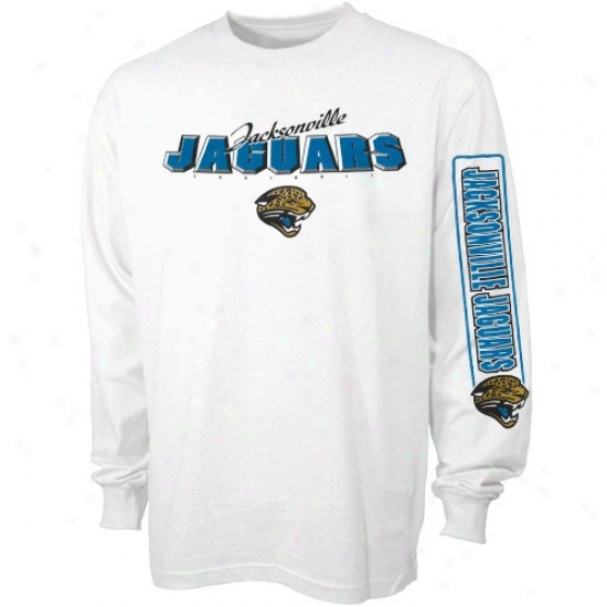 Jags Apparel: Reebok Jags White Youth Dimension Long Sleeve T-shirt