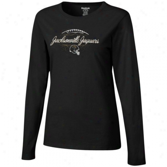 Jags Attire: Reebok Jags Ladies Black Victoria Long Sleeve T-shirt