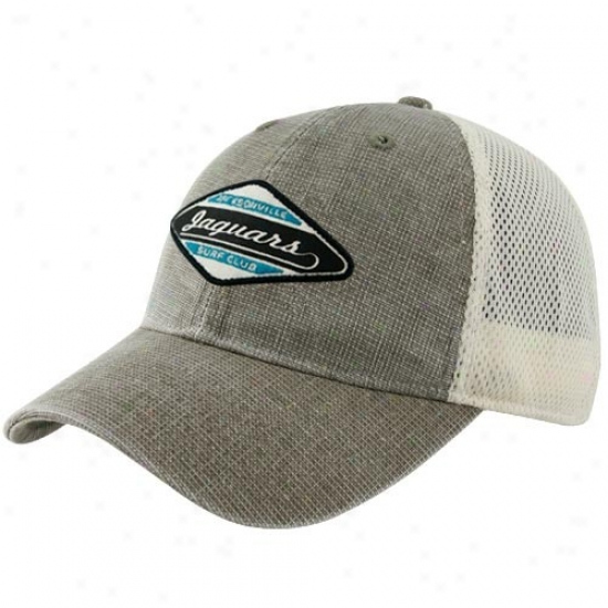 Jags Caps : Reebok Jags Brown Surf Club Soft Mesh Adjustable Caps