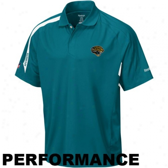Jags Clothes: Reebok Jags Teal Contact Performance Polo