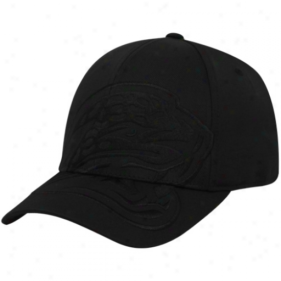 Jags Hat : Reebok Jags Black Tonal Structured Flex Suitable Hat