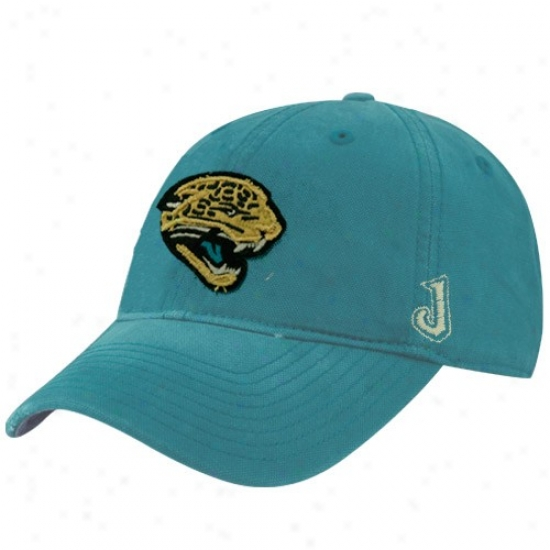 Jags Hat : Reebok Jags Teal Distressed Slouch Hat