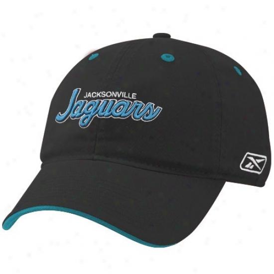 Jags Hats : Reebokk Jags Black Script Slouch Hats