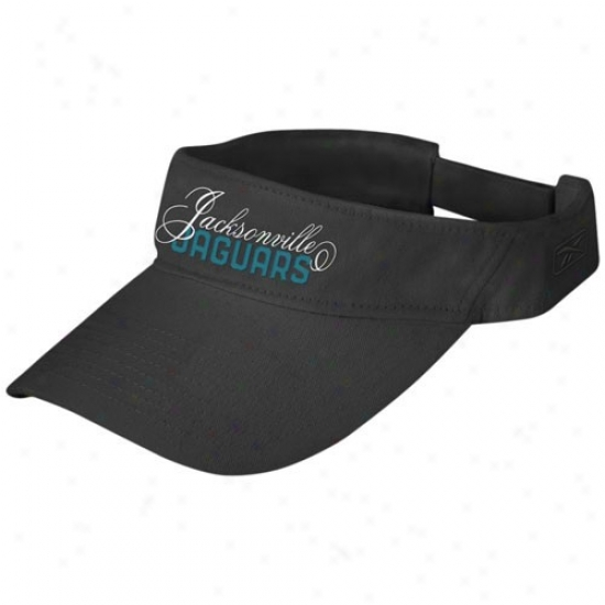Jags Hats : Reebok Jags Ladies Black Adjustable Fashion Visor