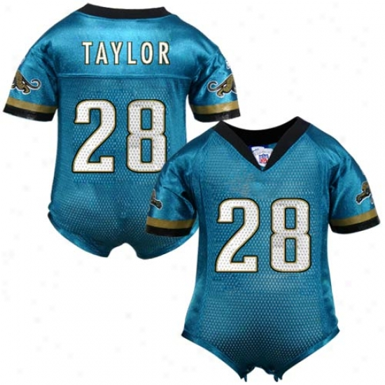 Jags Jersey : Reebok Nfl Equipment Jags #28 Fred Taylor Tea1 Infant One-piece Autograph copy Football Jersey