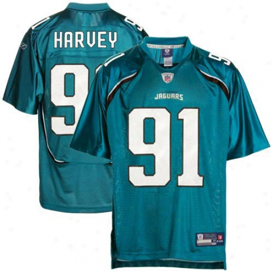 Jags Jerseys : Reebok Derrick Harvey Jags Youth Premier Tackle Twill Jerseys - Teal