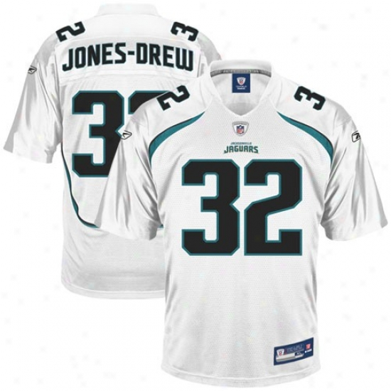 Jags Jerseys : Reebok Nfl Equipment Jags #32 Maurice Jones-drew White Replica Football Jerseys