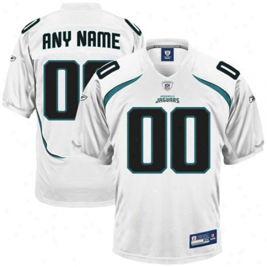 Jags Jerseys : Reebok Nfl Equipment Jags White Authentic Customized Jerseys
