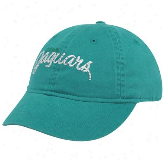 Jags Merchandise: Reebok Jags Ladies Teal Charlie Adjustable Hat