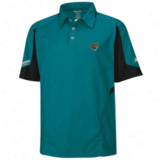 Jags Polos : Reebok Jags Teal Coaches Gravity Polos