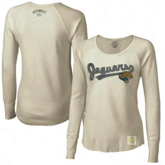 Jags Shirts : Reebok Jags Ladies Cream Skirt Sweep Long Sleeve Premium Thermal Shkrts