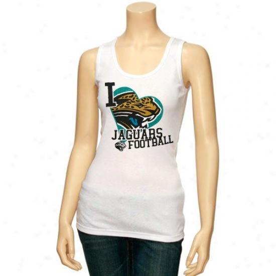 Jags T Shirt : Reebok Jags Ladies Pale Scrapbook Love Tank Top