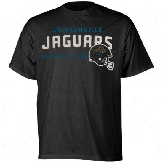 Jaguars Apparel: Reebok Jaguars Black The Call Is Tails T-shirt