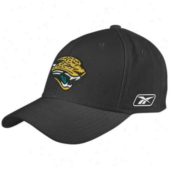 Jaguars Cap : Reebok Jaguars Black Coaches Flex Cap