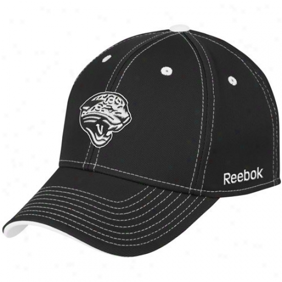 Jaguars Caps : Reebok Jaguars Black Tonal Team Logo Flex Fit Caps