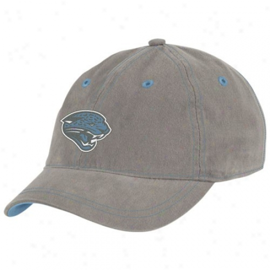 Jaguars Caps : Reebok Jaguars Grey/light Blue Ladies Fashion Charlie Caps