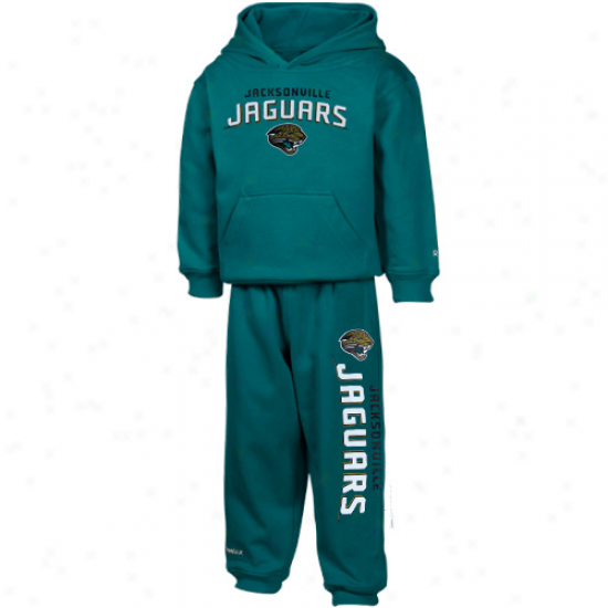 Jaguars Fleece : Reebok Jaguarw Toddler Teal Pullover Fleece AndS weatpants Set