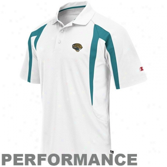 Jaguars Golf Shirt : Jaguars White Field Classic Performance Enhanced Golf Shirt