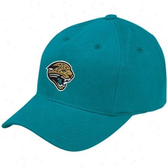 Jaguars Hats : Reebok Jaguars Teal Yuoth Basic Hats