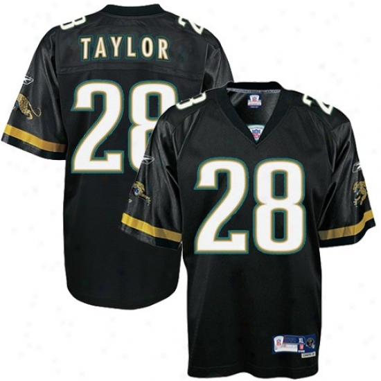 Jaguars Jersey : Reebok Jaguars #28 Fred Taylor Youth Black Premier Tackle Twill Jersey