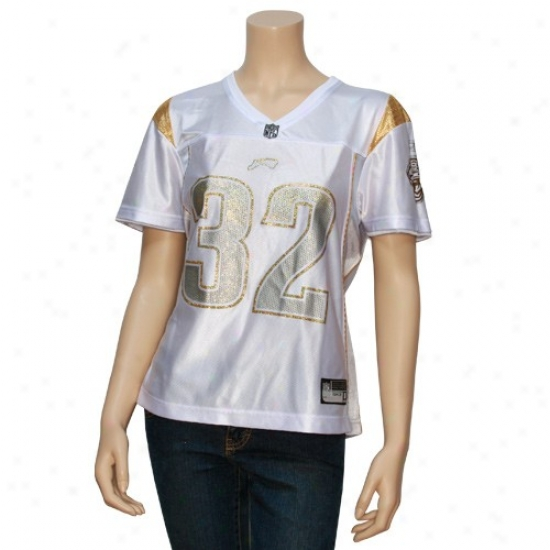 Jaguars Jersey : Reebok Jaguars #32 Maurice Jones-drew Ladies White Alloy Fashion Jersey