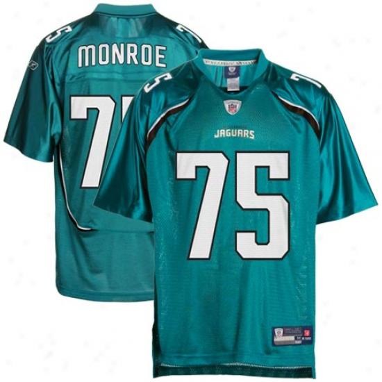 Jaguars Jersey : Reebok Nfl Equipment Jaguars #75 Eugene Monroe Teal Replica Football Jeersey