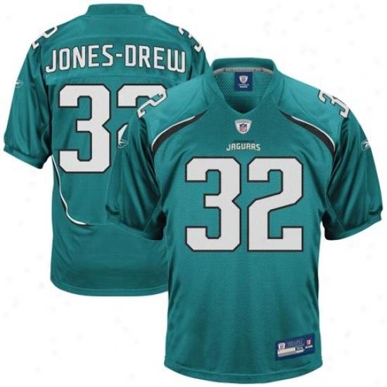 Jaguars Jerseys : Reebok Nfl Equipment Jaguars #32 Maurice Jones-drew Teal Authentic Jrrseys