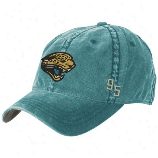 Jaguars Merchandise: Reebok Jaguars Teal Overdye Flex Slouch Cardinal's office