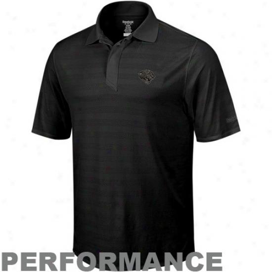 Jaguars Polos : Reebok Jaguars Black Revverse Performance Polos