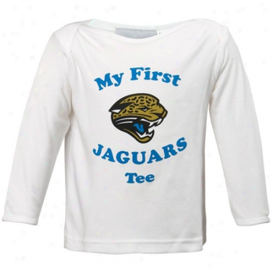 Jaguars Shirt : Reebok Jaguars Infant White My First Shirt Long Sleeve Shirt