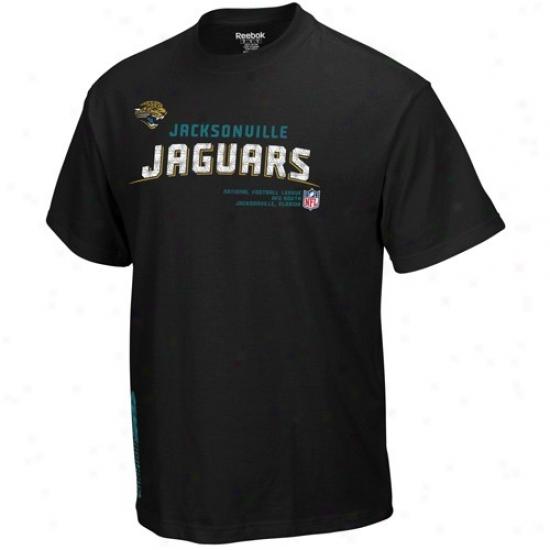 Jaguars Shirts : Reebok Jaguars Black Sideline Twcon Shirts