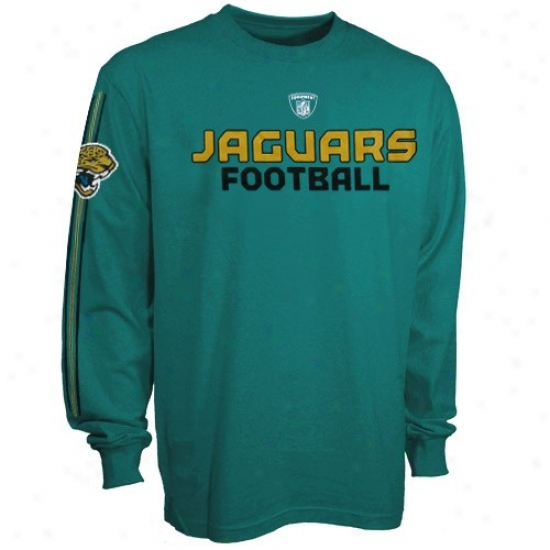 Jaguars T Shirt : Reebok Jaguars Teal Or6itai Long Sleeve T Shirt