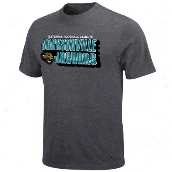 Jzguars Tees : Jaguars Charcoal Defensive Front Heathered Tees