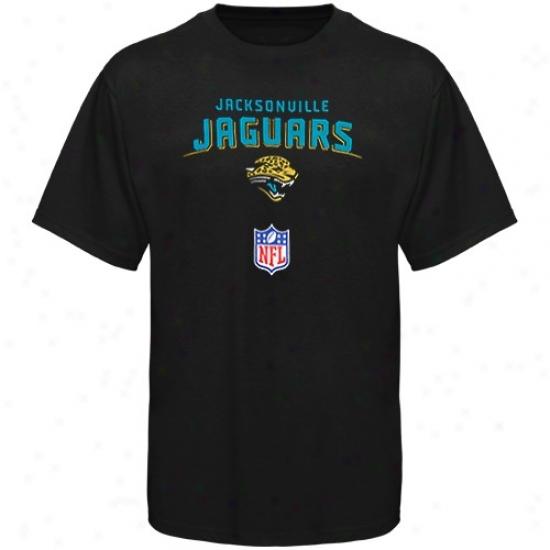 Jaguars Tshirt : Reebok Jaguars Youth Black 2009 Team Lockup Sideline Tshirt